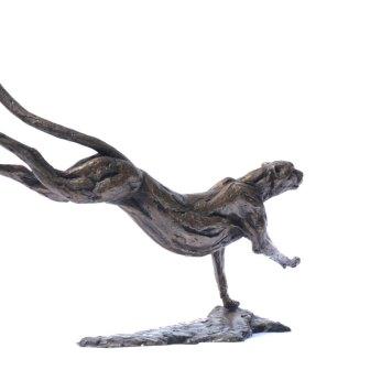 Bronze Cheetah Sculpture 12 - Tanya Russell Sculpture