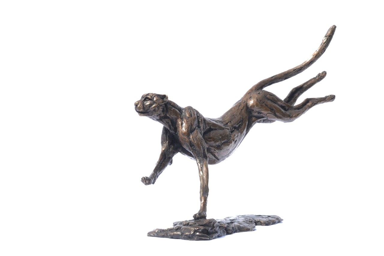 Cheetah Running 6 - Tanya Russell Sculpture