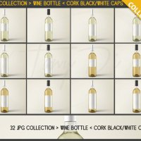 JPG Bottles C01 Single Wine Bottle with by TanyDiDesignStudio