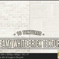 Creamy White Bricks 8.5x11 Printable by TanyDiDesignStudio