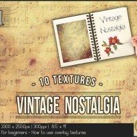 Vintage Nostalgia 1 Photo Overlay Grunge by TanyDiDesignStudio