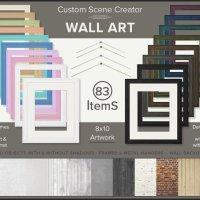 Scene Creator Wall Art Custom frame mockup by TanyDiDesignStudio