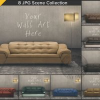 Leather Sofa Living Room Interior Scene 8 by TanyDiArtDesign