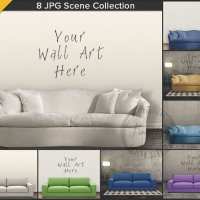 Interior Sofa Styling 8 Blank Wall Styled by TanyDiArtDesign