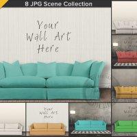 Modern Sofa Interior Styling 8 Blank Light by TanyDiArtDesign