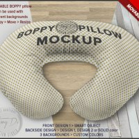 Boppy Pillow Cover PSD Styled Mockup Movable by TanyDiArtDesign