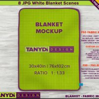 Full Top Fleece Blanket PSD Styled Mockup 8 JPG scenes