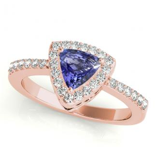Trillion Tanzanite Wedding Ring