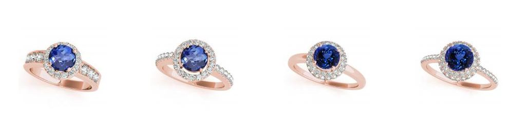 tanzanite ring 14k Rose Gold