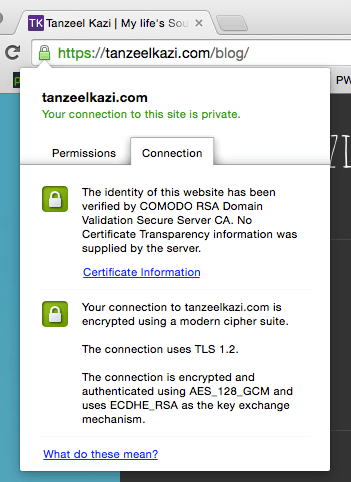 The blog is now running over HTTPS