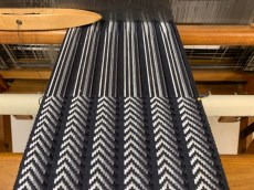 Warp faced twill on opposits.