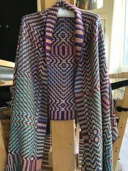 Deflected Doubleweave shawl.