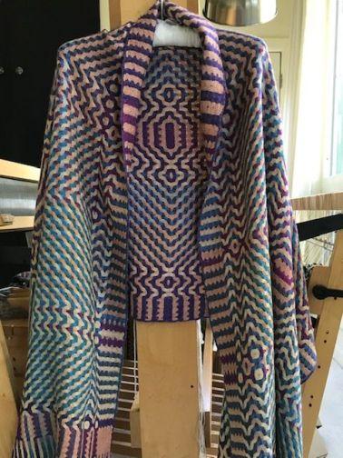 Joanne's Deflected Doubleweave shawl.