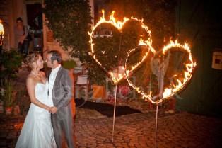 Hochzeitsfeuershow Zugabe: Feuer-Herzen