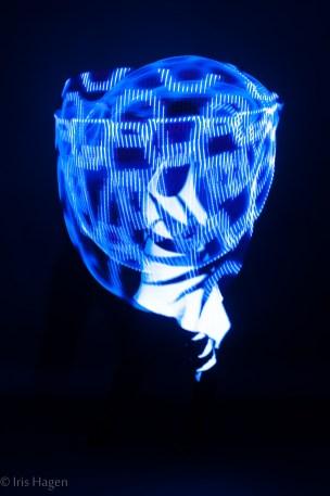 MATRIX LED HULA HOOP für Lichtshow * Foto: Iris Hagen