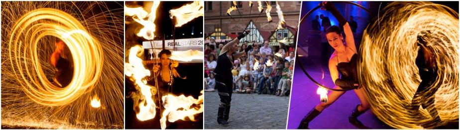 Lux Orbis - Solo Feuershow - Feuertanz, Feuerjonglage, Hula Hoop, Poi, Feuereffekte - Hochzeiten und kleinere Events, Hochzeits-Feuershow