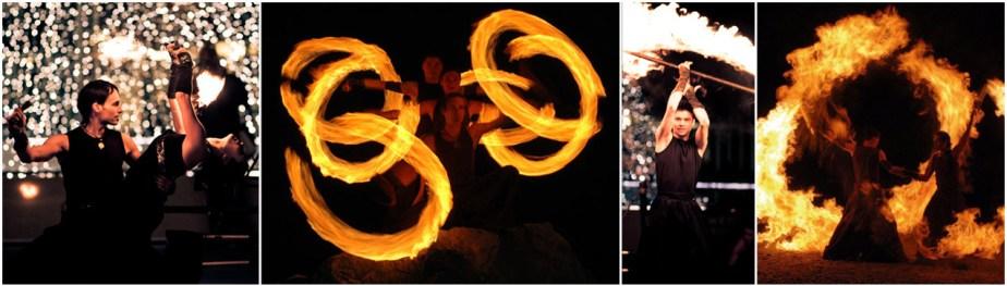 Moving Flames - Die sportliche Feuershow - Feuertanz, Feuerjonglage, Feuereffekte, Feuerartistik