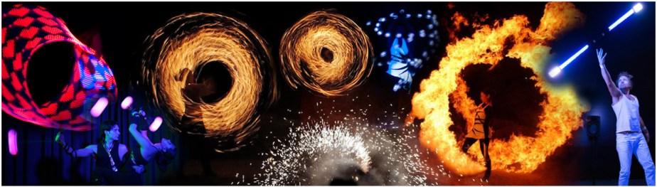 Feuershow und Lichtshow in einem: Q7 - von Tanzlicht K - Tanz, Lichtshows und Feuerartistik aus Frankfurt am Main