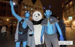 Das E-Team als Live-Attraktion bei der Earth Hour auf dem Römerberg in Frankfurt, mit freundl. Genehmigung des Energiereferats der Stadt Frankfurt