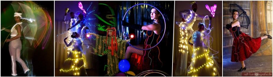 LUNAÏS - Licht Walking Act mit Lichtkostümen und Lichtrequisiten, Jonglage, Tanz, Interaktion, Schauspiel von Tanzlicht K - Tanz, Lichtshows und Feuerartistik aus Frankfurt am Main