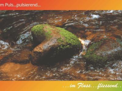 Im Puls … pulsierend, im Fluss … fließend