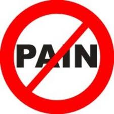 No Pain sign. Knee Pain Running.