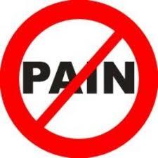 No Pain sign. Knee Pain Running.