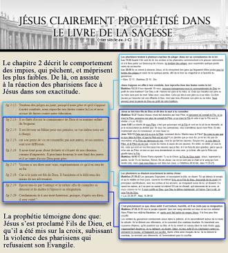 Jésus clairement prophétisé dans le livre de la Sagesse