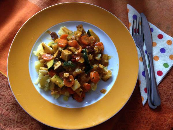 Herbstlicher Gemüsetopf – vegan!