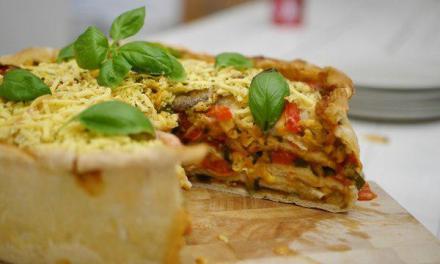 Zu Ostern: Vegane Pizzatorte