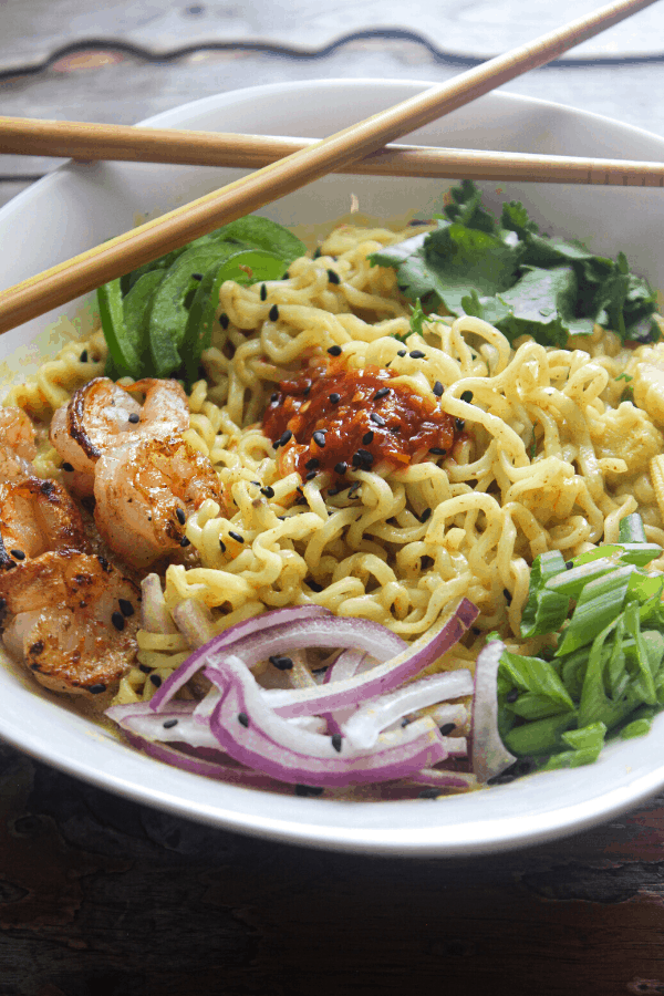 Highly customizable curry ramen made with instant noodles. Quick and easy weeknight dinner.