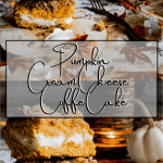 Pinterest graphic for pumpkin cream cheese coffee cake.