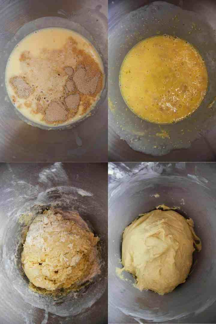 For stages of cinnamon roll dough.