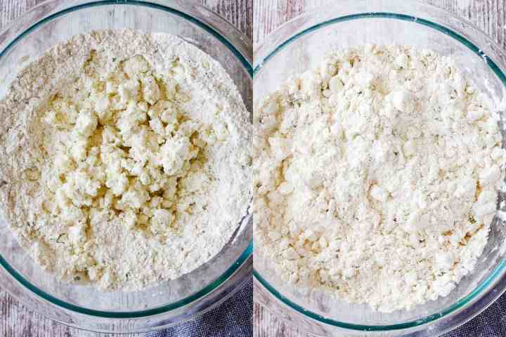 Two stages of dough.