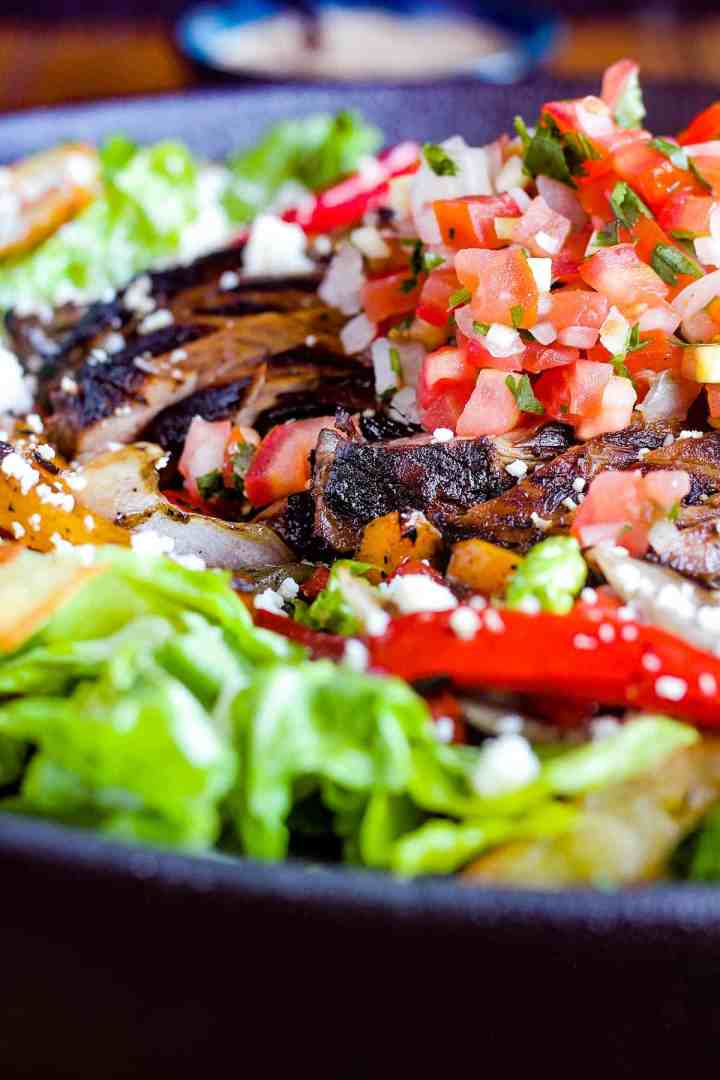 Close up of salad.