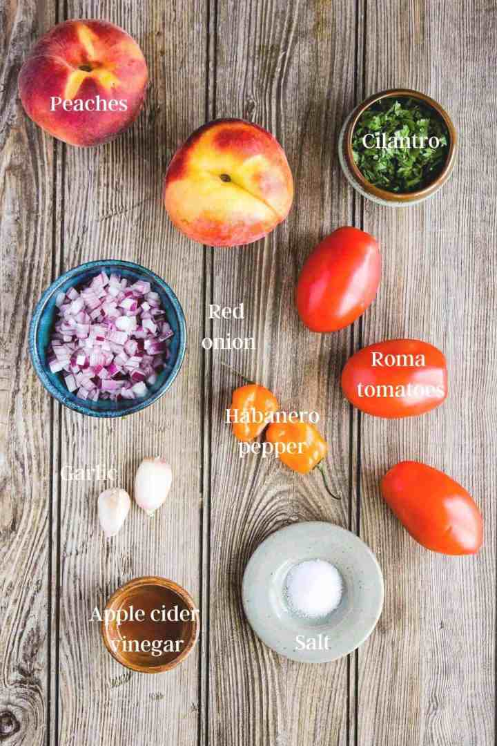 Ingredients for salsa (see recipe card).
