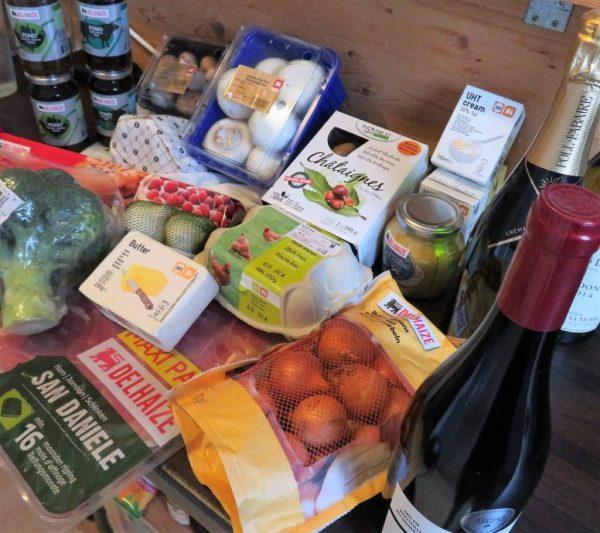 Delhaize Grocery Shopping for a 3-course menu for Christmas
