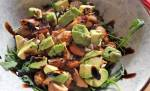 Avocado Mussels Salad with crema di balsamico