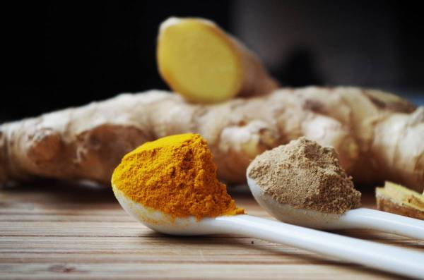 turmeric and ginger powder
