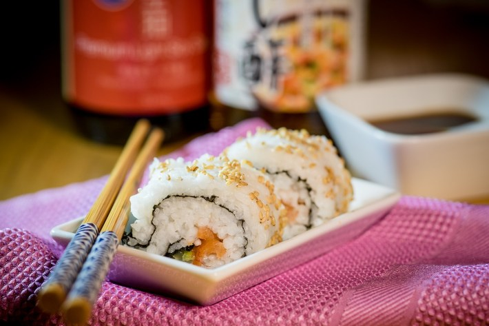 Sushi, rice and vinegar