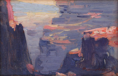 "Dawson Dawson-Watson (1864-1939) Grand Canyon, Oil on Canvas Board, c. 1920, 6"" x 9"""