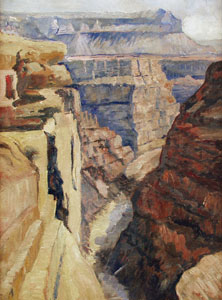 """Albert L. Groll, A View of the Grand Canyon, Oil on Board, 24"""" x 18"""""""