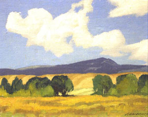 "Carl Woolsey, West of Taos, Oil on Board, 7"" x 8"""
