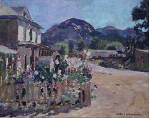 """Charles Berninghaus, Corner at Arroyo Seco, Oil on Canvas Board, 16"""" x 20"""""""