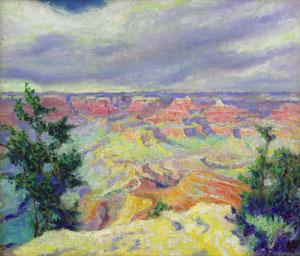 "Cornelis Botke, Grand Canyon, Oil on Canvas, 11"" x 13"""