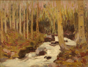 "Eanger Irving Couse, Aspen, Oil on Canvas Board, 9"" x 11"""