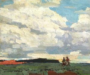 """Edgar Payne, Desert Sky #2, Oil on Board, 10"""" x 11"""""""