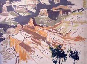 """James Swinnerton, South Rim, Grand Canyon, Oil on Board, Circa 1935, 16"""" x 20"""""""