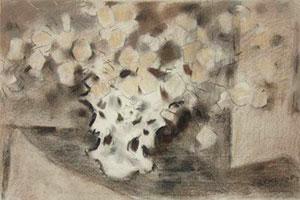 "John Ward Lockwood, Victorian Bouquet, Pastel on Paper, 14"" x 21"""