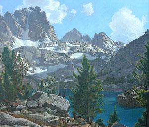 "Robert Clunie, Fifth Lake Palisade Region Sierra Nevada, Circa 1940, Oil on Canvas, 26"" x 30"""